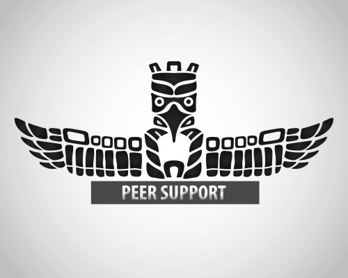 "Image of ThunderBird with ""Peer Support"" written under the image"