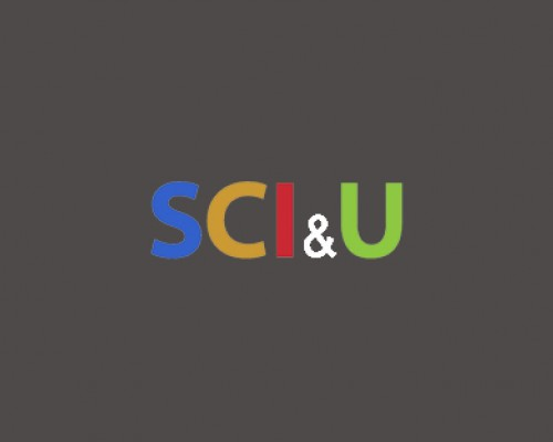 SCI & U logo on a gray background