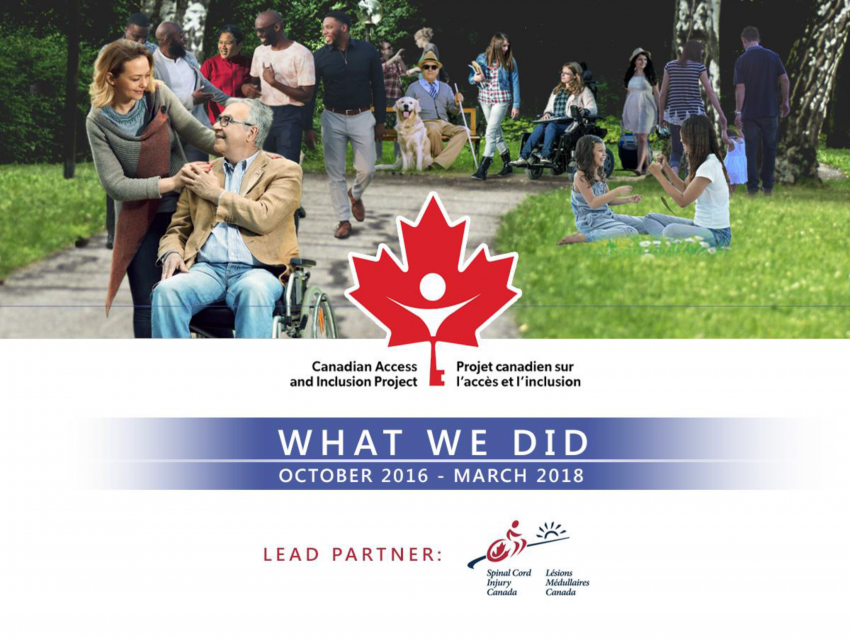 Canadian Access and Inclusion Project: What have we done? - Introductory Slide