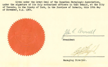 The CPA seal and part of the letter of incorporation