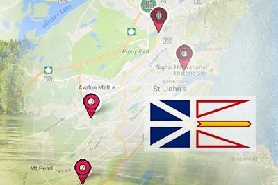 Map of Newfoundland