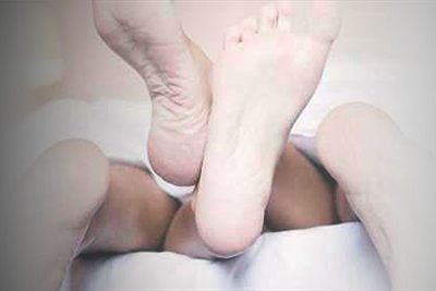 Two pairs of feet